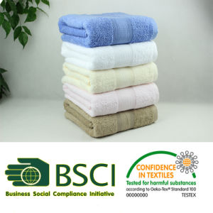 100% Combed Cotton Dobby Plain Dyed Bath Towel with Stock pictures & photos