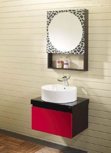 Red Bathroom Cabinet (OP-W1130)