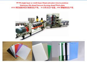 PP PE PS Pet Transparent Sheet Extrusion Line PP PE PS Pet Thermoforming Sheet Extruding Machine Plastic Sheet Producing Machine pictures & photos