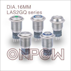 Onpow 16mm Push Button Switch (LAS2GQ, CE, RoHS) pictures & photos