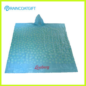 Promotional Printed PE Rain Poncho (RPE-005) pictures & photos