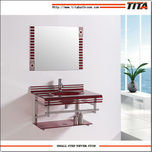 Hand Wash Sink/Square Wash Basin/Glass Bathroom Sinks T-9 pictures & photos