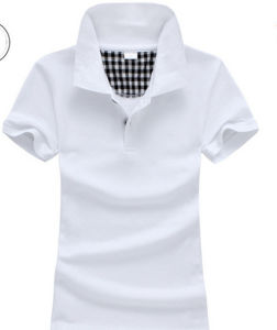 Customized Plain Pique Short Sleeves Different Colors Women′s Polo Shirt pictures & photos