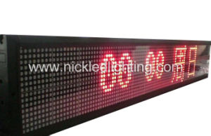 P4 Red Color DOT Matrix LED Moving Message Display Sign pictures & photos