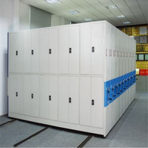 Well Organized High-Density Space-Saving Mobile Shelving for Library School or Bank pictures & photos