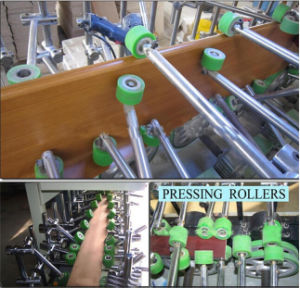 Woodworking Wood Profile Wrapping PVC and Veneer Laminating Machine pictures & photos