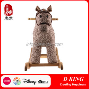 En71 Spring Rider Wooden Rocking Horse Children Toy with Wheels pictures & photos
