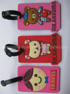 Eco-Friendly Travel PVC Luggage Tag Comply with Us Standards pictures & photos