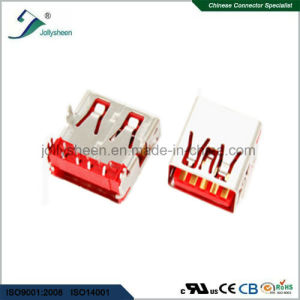 USB a/Female 90deg Reverse Type No Curling Red Insulator pictures & photos