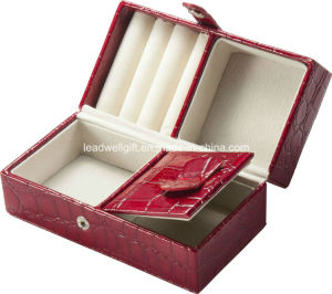 Locking Leather Red Jewelry Box/Case with Travel Inserts pictures & photos