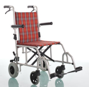 Amw04s Fixed Armrest Aluminum Medical Wheel Chair pictures & photos