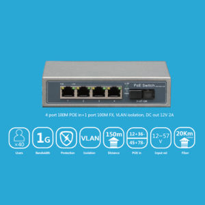 24 Port Reverse Poe Switch 10/100Mbps DC 12V 2A Output From DC Socket pictures & photos