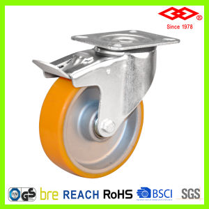 125mm PU Wheel Industrial Caster (P102-76FA125X40S) pictures & photos