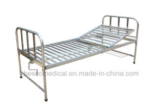 Stainless Steel Hospital Bed with One Crank (BES-HB054A)