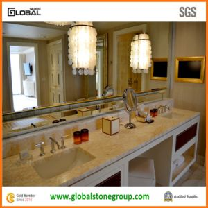 High End Golden Spider Marble Vanity Tops for Hotel Wynn