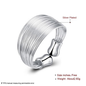 Popular Multiwire Ringent Ring Round Silver Plated Ring for Women pictures & photos