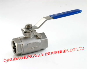 2-PC Threaded Full Bore Ball Valve, 1000wog, DIN pictures & photos