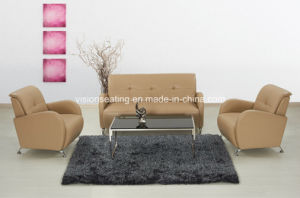 Modern Metal Leather Office Furniture Hotel Lobby Couch (9017) pictures & photos
