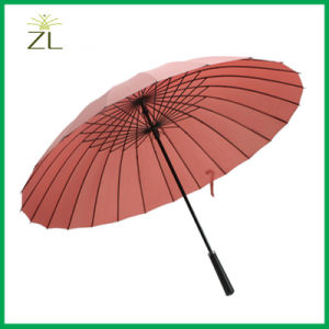 23 Inch Auto Open Special Straight Lady Style Cheap Rain Umbrellas pictures & photos