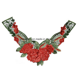 New Colar Lace Design Rose Green Leaf 3D Colar Lace Ym-013 pictures & photos