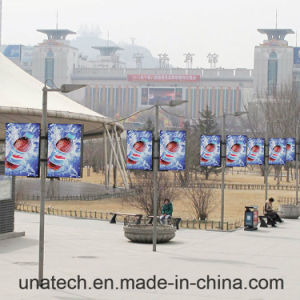 Lamp Pole Outdoor Advertising PVC Film LED Banner Tension Light Box Billboard pictures & photos