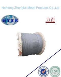 Electro Galvanized Steel Wire Rope 19*7 with High Tensile Strength pictures & photos