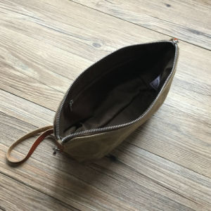 Custom High Quality Waxed Canvas Toiletry Bag pictures & photos