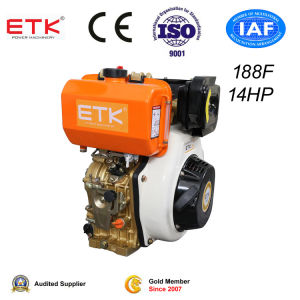 14HP Air-Cooled Diesel Engine for Home Using pictures & photos