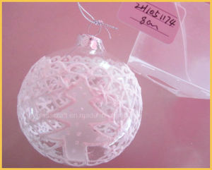 2016 Hot Sales Clear Christmas Glass Ornament Ball pictures & photos