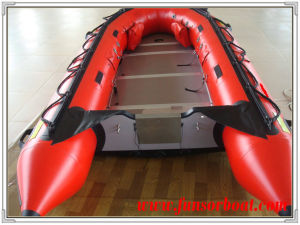Plywood Floor Inflatable Boat for Fishing (FWS-A380) pictures & photos