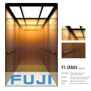 FUJI Passenger Elevator Lift with Rose Gold Cabin pictures & photos