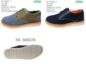 No. 50057 Men Denim Casual Stock Shoes pictures & photos