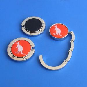 Metal Round Shape Printi9ng Logo Bag Hangers pictures & photos