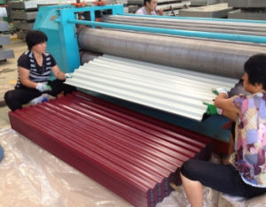 (0.14mm-0.8mm) Color Coated Galvalume Corrugated Steel Roofing Sheet pictures & photos