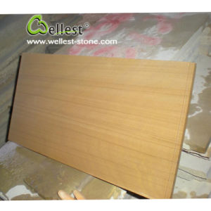 Yellow Wooden Sandstone, Honed Sandstone, Sandstone Blocks Price pictures & photos