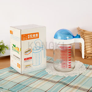Excellent Quality Modern Design 375g Health Fish-Shaped Glass Cooking Oil Pot with PS Cap