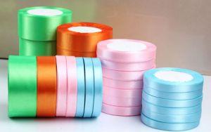 Colorful Satin Ribbon, Ribbon Printing, Metallic Glitter Ribbon