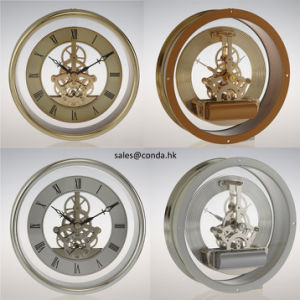 Round Brass Skeleton Clock Movement pictures & photos