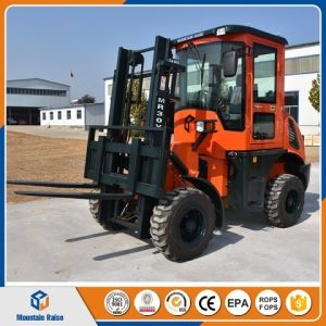 3ton 3m Lifting Height Rough Terrain Forklift with Fork Clamp pictures & photos