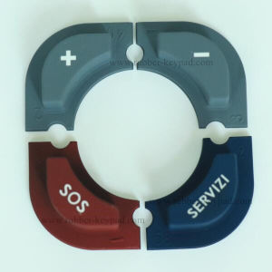 Silicone Rubber Single Push Button pictures & photos