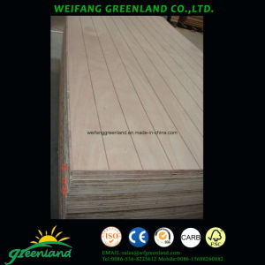 18mm Grooved Hardwood Coer, Phenolic Glue, Okume Film Faced Plywood pictures & photos
