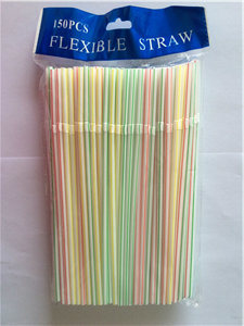 Multi-Color Drinking Straw, Striped Flexible Straw pictures & photos