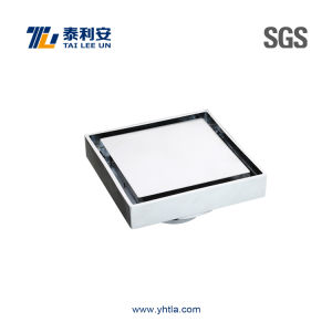 Chrome Plated Brass Floor Drain with Square Cover / Recessed (dual-use) (T1059) pictures & photos