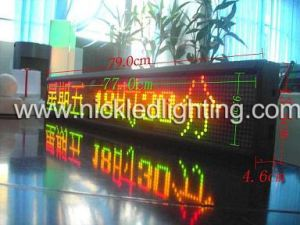 Indoor Dual Color F3.75 P4.75 DOT Matrix LED Sign Board pictures & photos