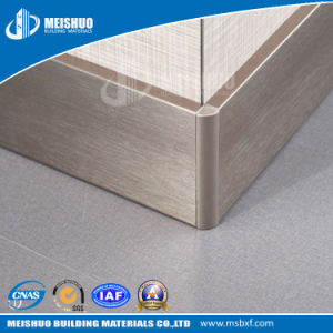 Flexible Decorative 80mm Gold Aluminum Skirting Baseboard pictures & photos