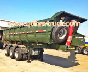 60 Ton 3axles Tipper Trailer Tractor Dump Trailer for Sale pictures & photos