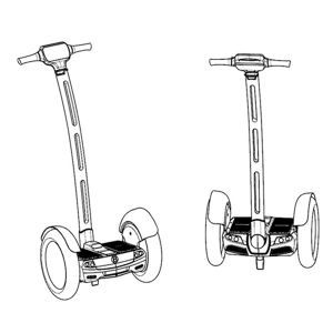 RoHS Ce FCC Certificated 15inch Big Wheel Electric Self Balancing Scooter with APP pictures & photos