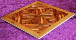 Walnut and Teak Parquet Panel From Foshan (A004-1)