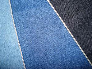 Red Selvage Cotton Slub Denim Twill Fabric Indigo Blue pictures & photos
