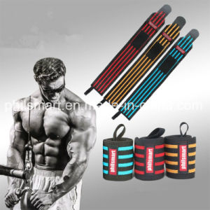 New Arrival Custom Crossfit Padded Power Weight Lifting Wrist Straps pictures & photos